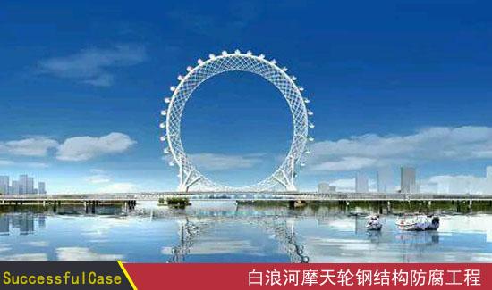 山东潍坊白浪河大桥及摩天轮