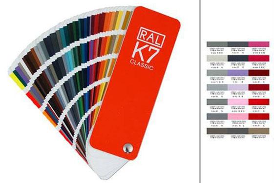 丙烯酸聚氨酯面漆的颜色色卡